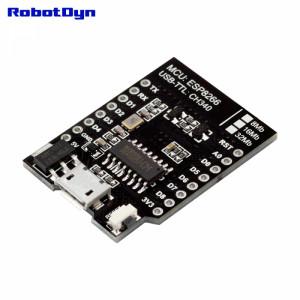 WI-FI контроллер D1 mini на базе ESP8266, MicroUSB CH340G, flash память 32mb