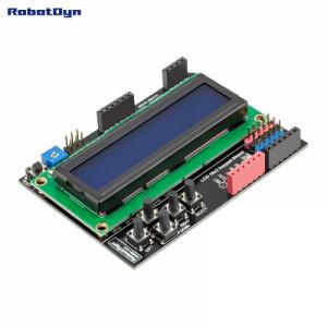 Плата расширения с LCD дисплеем 1602 и кнопками (Blue screen, Assembled) от RD