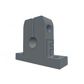 Напечатанная модель Опора (суппорт) для направляющих 8мм