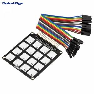 Сенсорная клавиатура 4х4,16 выходов, для модуля TTP229