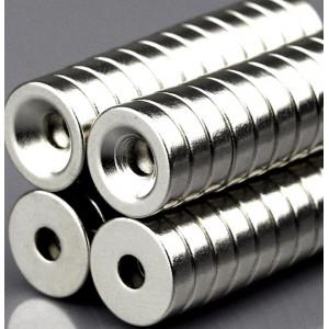 Неодимовый магнит 10x3 N50 с отверстием