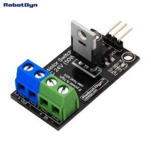 Модуль транзисторное реле постоянного тока. Уровень управления 5V, VDC 24V/30A с оптической развязкой