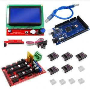 Комплект для создания 3D принтера (Mega 2560, RAMPS 1.4, 5 шт DRV8825, RAMPS 1.4 LCD128x64)