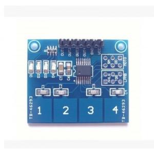 Сенсорная панель на 4 емкостные кнопки TTP224