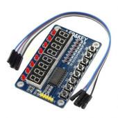 Модуль клавиатуры и светодиодной индикации LED&KEY на TM1638