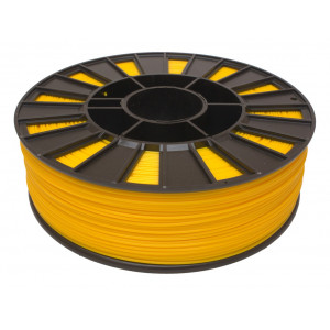 Катушка желтого цвета PLA пластика для 3D принтера 0.82 кг, 1.75 мм