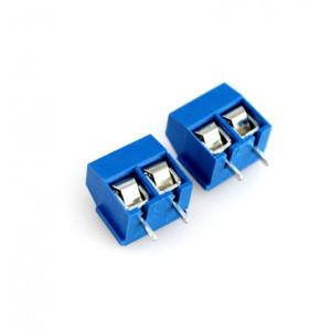Двух контактный клемник под винт на плату XY306-5.0-02P