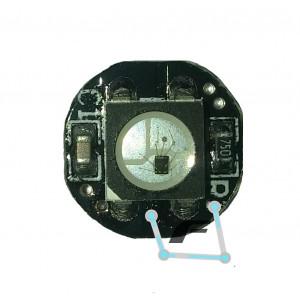 Модуль RGB светодиода с ШИМ чипом WS2812 (белый цвет)