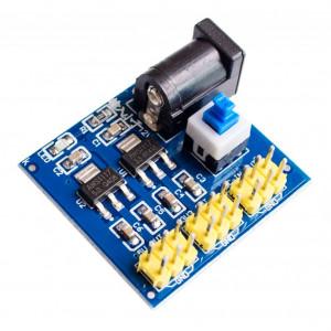 Dc-dc Преобразователь напряжения понижающий на AMS1117 входное 6-15В, выходное 5В и3.3В