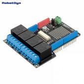 Плата расширения для Arduino Uno с 4 реле
