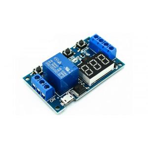 Модуль реле времени XY-J02 (JZ-801) программируемый цифровой 0,1сек-999 минут