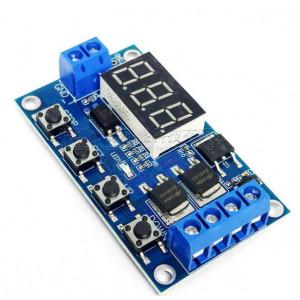 Модуль реле времени XY-J02 MOS программируемый цифровой 0,1сек-999 минут