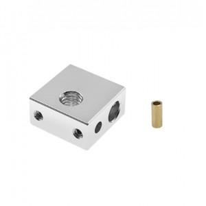 Нагревательный блок MK8 обновленный для 3d принтера с фиксацией термистора