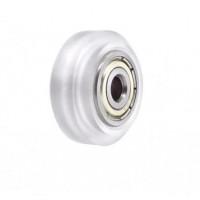 Ролик линейный 5х11х24 (колесо для профиля 20мм принтера и лазерного гравера) прозрачный