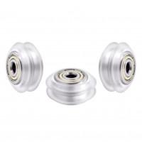 Ролик линейный 5х11х24 V-Slot (колесо для профиля 20мм принтера и лазерного гравера) прозрачный