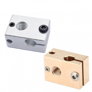 Нагревательный блок для 3d принтера (Хотэнд V6, обновленный) PT100