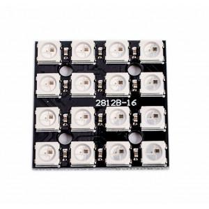 Модуль RGB светодиодов CJMCU-2812-16-квадрат с ШИМ чипом WS2812