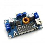 Dc-dc Преобразователь напряжения понижающий XL4015 5A с индикацией вольтметра и регулировкой мощности