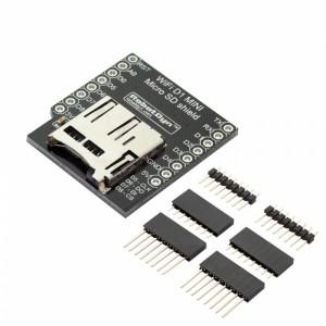 Плата расширения WI-FI D1 mini WeMos с разъемом для карты памяти MicroSD и набором коннекторов