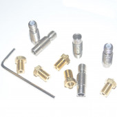 ZiP комплект для экструдера E3D V6 (ключ + 5 термобарьеров + 5 сопел 0.3-0.5мм)