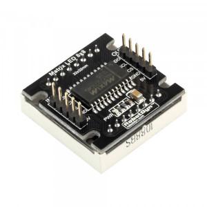 Матричный LED экран 8x8 точек, 32x32мм, на базе драйвера MAX7219/7221 желтый