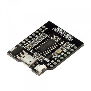 USB-UART CH340 конвертер, шилд для Wi-Fi D1 mini (WeMos-совместимый)