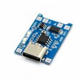 Модуль заряда аккумулятора Type-C USB TP4056 с защитой