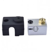 ZiP комплект для экструдера E3D V6 (нагревательный блок + силиконовая изоляция + сопло 0.4мм)
