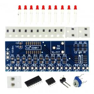 Модуль световой индикации на CD4017BM, DiY набор для пайки