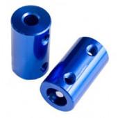 Муфта 5mm-8mm, D14 L25 синяя, цельная
