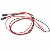 Соединительный кабель 2PIN, dupont 2.54, 20см мама-мама