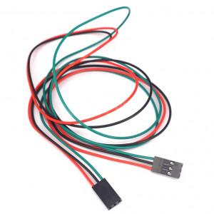 Соединительный кабель 3PIN, dupont 2.54, 70см мама-мама