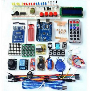 Обучающий комплект компонентов с контроллером UNO R3 для работы в среде Arduino 41 в 1