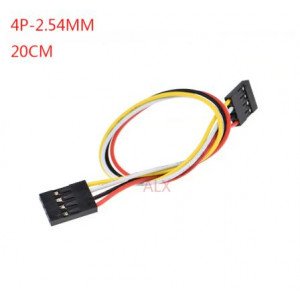 Соединительный кабель 4PIN, dupont 2.54, 20см мама-мама