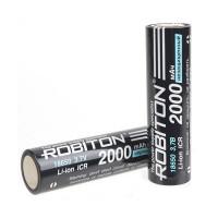 Li-ion аккумулятор 18650 3.7В Robiton 2000мАч