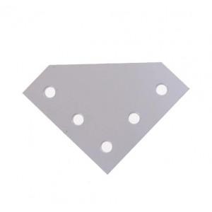 Крепежная пластина алюминиевая L-образная 2020L-5 точек