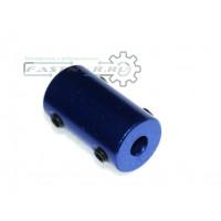 Муфта 5mm-5mm, D14 L25, синяя, цельная