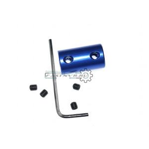 Муфта  5mm-8mm, D14 L25 синяя