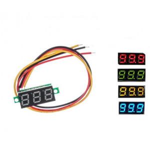 Мини вольтметр-дисплей 0.28, от 2.5 до 100в