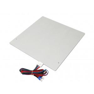 Нагревательный стол алюминиевый 300x300x3.5мм 12в с клемником и термистором для 3D принтера