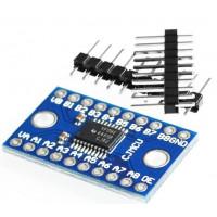 Двунаправленный 8-ми канальный преобразователь логических уровней 5В в 3.3В на чипе TXS0108E