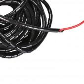 Лента спиральная монтажная D-8мм черная