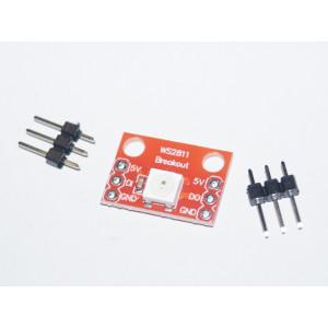Модуль RGB светодиода с ШИМ чипом WS2812S (красная плата)