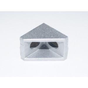 Монтажный алюминиевый уголок 20x20x17мм под профиль 2020