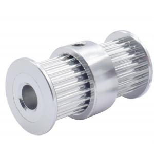 Зубчатый шкив GT2-6-20-X2-5mm сдвоенный 5мм