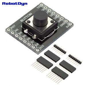 Плата расширения WIFI D1 mini WeMos - Кнопка с набором коннекторов, с возможностью изменения управляемого порта
