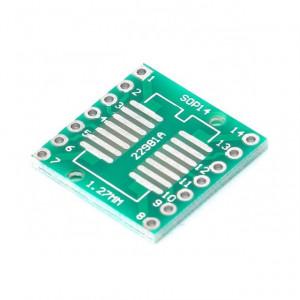 Адаптер sSOP14 на шаг 0.65 и 1.27 мм
