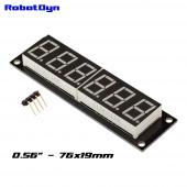 Модуль 6-значный 7-сегментный LED дисплей, 76x19мм, драйвер TM1637