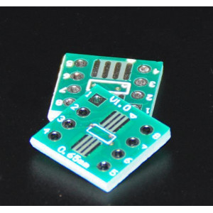 Адаптер SOP8/SSOP8/TSSOP8 на шаг 0.65 и 1.27 мм