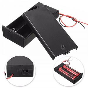 Батарейный отсек 18650 на 2 места (закрытый с переключателем on-off)